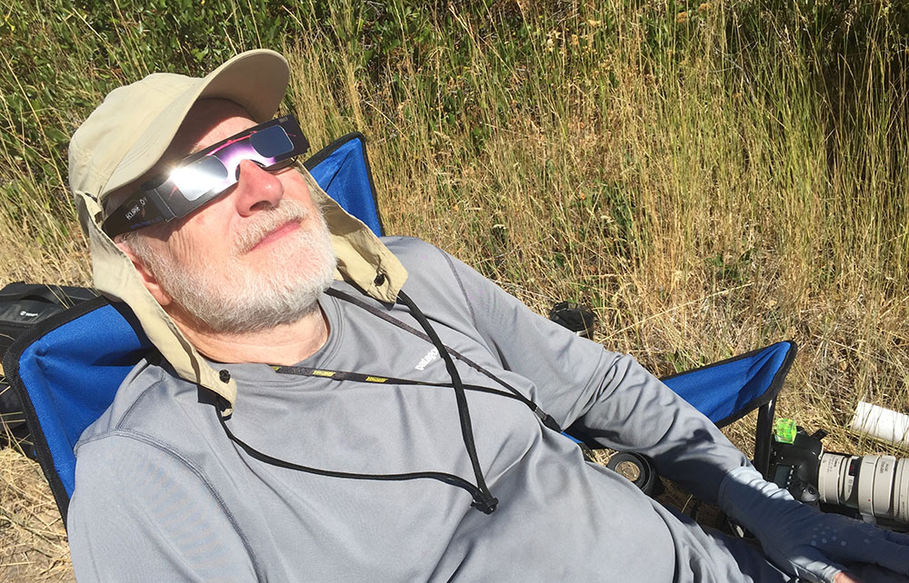 Stuart during the Eclipse, Grant County, OR. 2017. Canon 1DX II