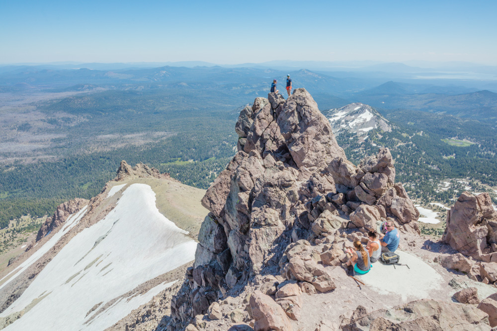 Mt. Lassen Summit at 10,400 ft. and Park Beyond,Lassen National Volcanic Park. CA. 2017. Canon 5DSr.