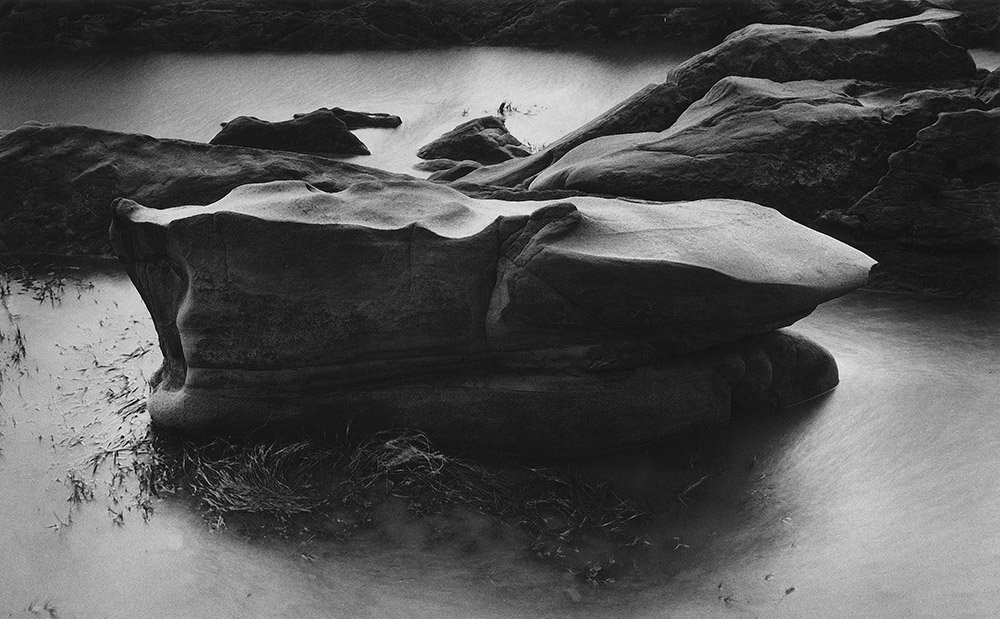Floating Stone and Pond. Point Lobos. 1978. Mamiya RB67 with Ilford FP4 120mm film.