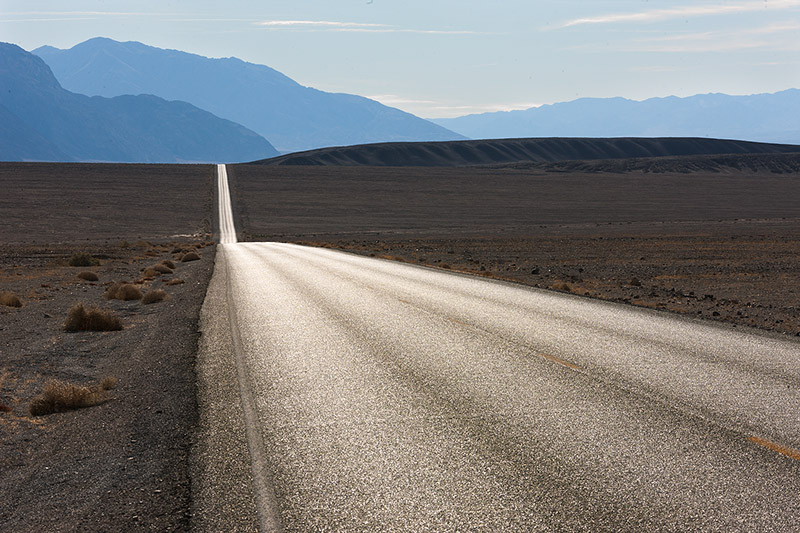 Highway, Ridge-line and Hills. Death Valley. 2012. Canon EOS-1Ds Mark III.