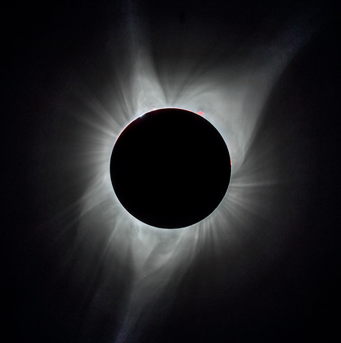 Total Solar Eclipse with Prominence. 2017. Canon 5DSr.