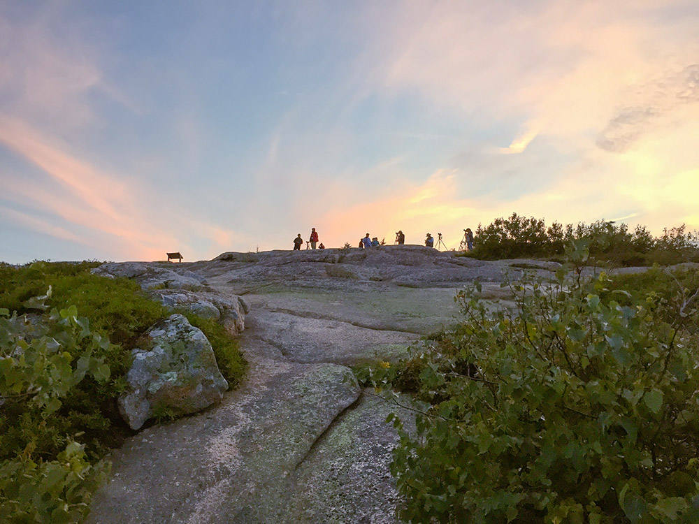 Workshop at Cadillac Mountain, Acadia National Park.. Maine Media Workshops. 2012. Canon EOS-1Ds Mark III.