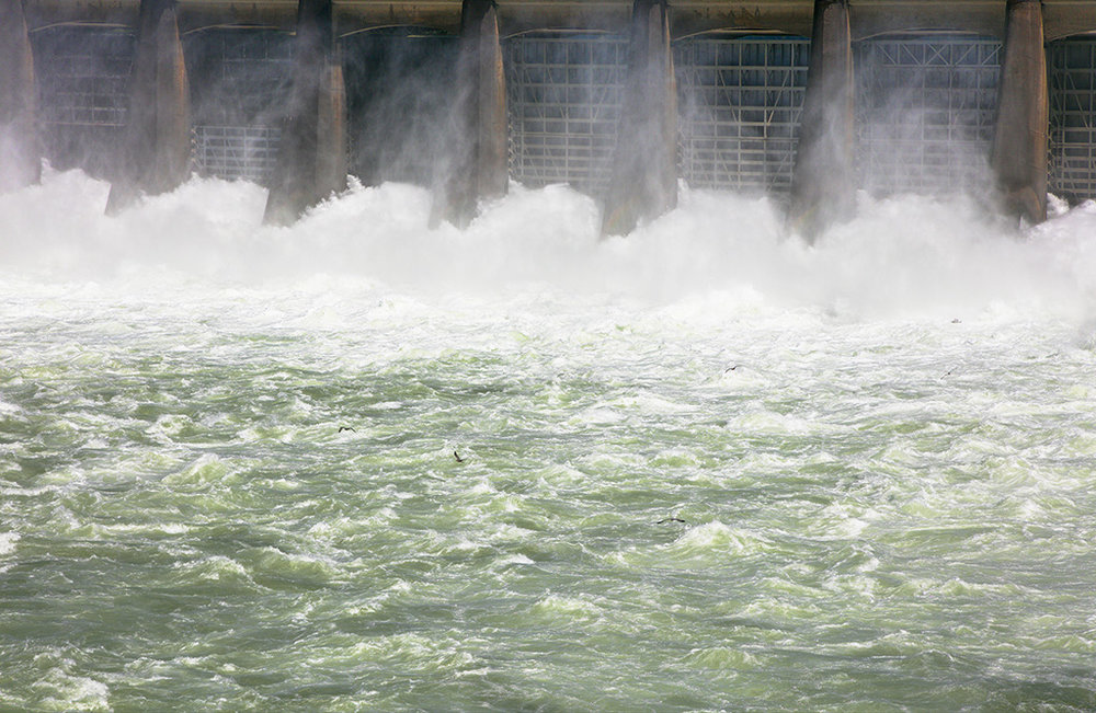 Spillway. Bonneville Dam. OR. 2017