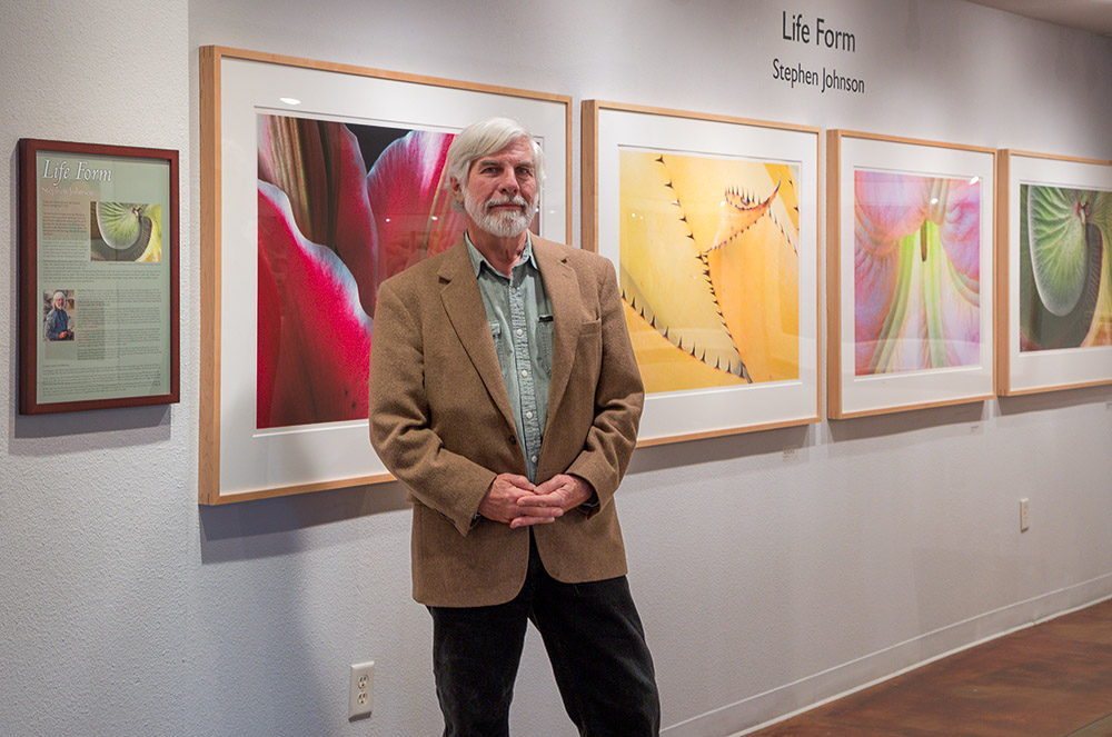Steve with the Life Exhibit, Viewpoint Photographic Art Center. 2018 Canon 1DX II.