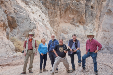 Steve with most of the Death Valley Workshop in Titus Canyon. 2018..