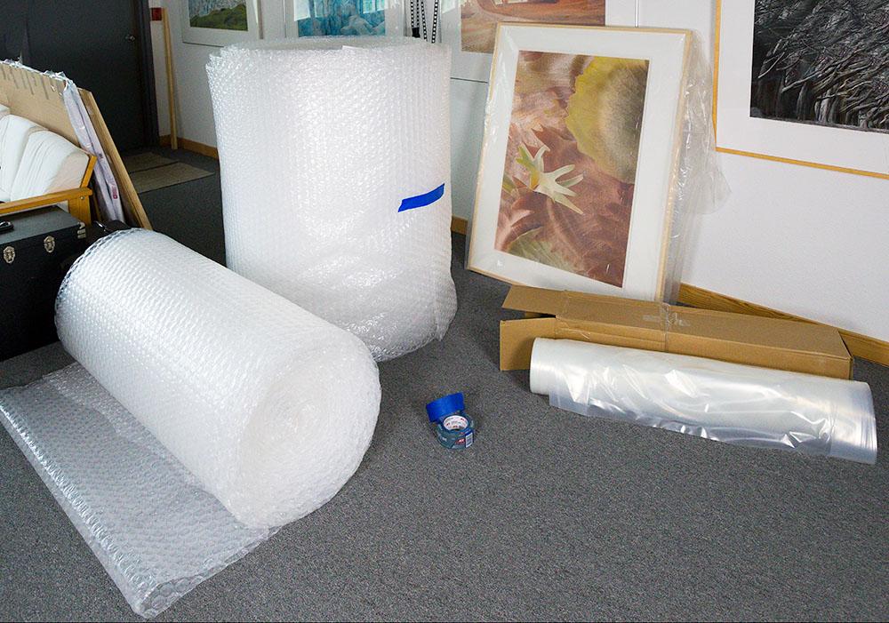 Hand transport materials.