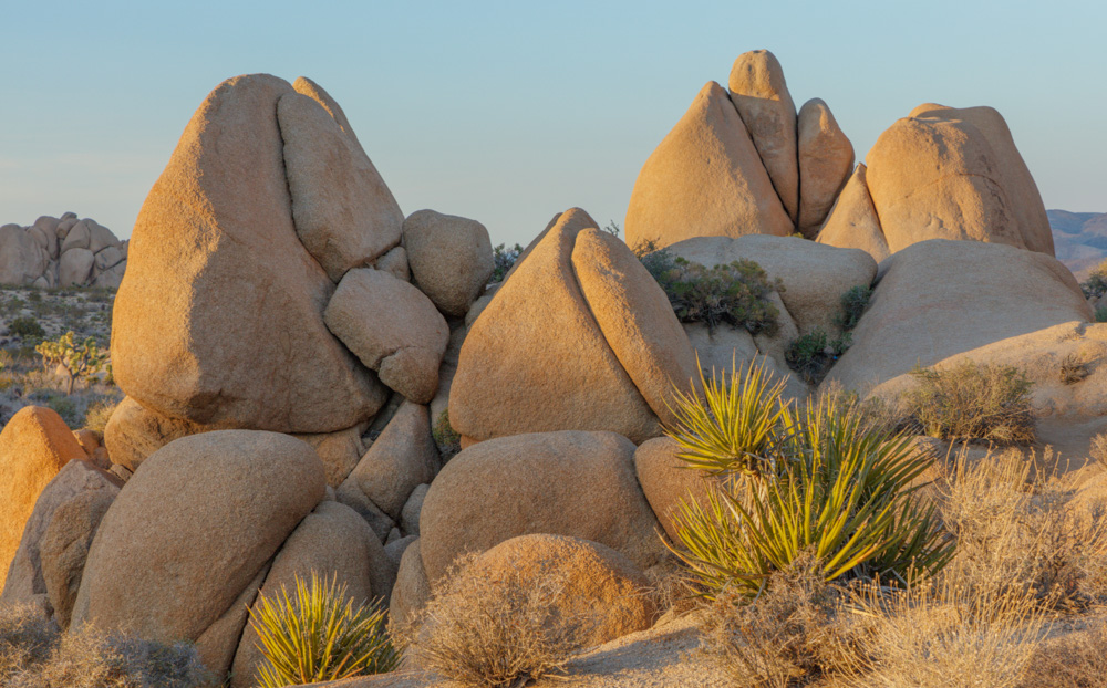 Boulders at Sunset. Joshua Tree National Park. 2018. Canon EOS 5DSr.