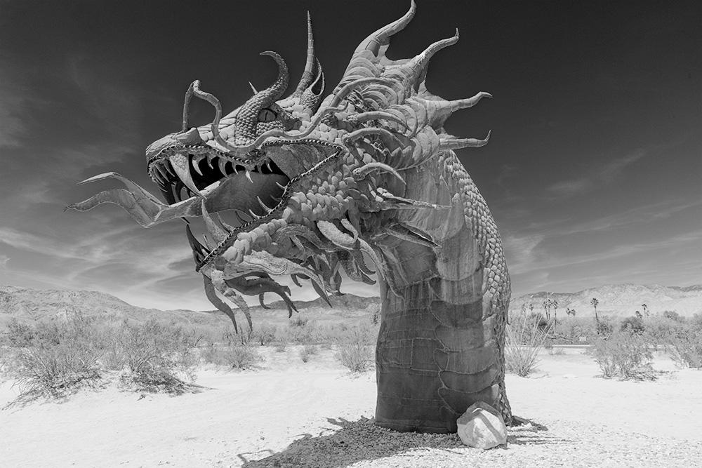 Dragon Pixelgraph (altered photo). Borrego Springs, CA.2018. Canon EOS 5DSr.