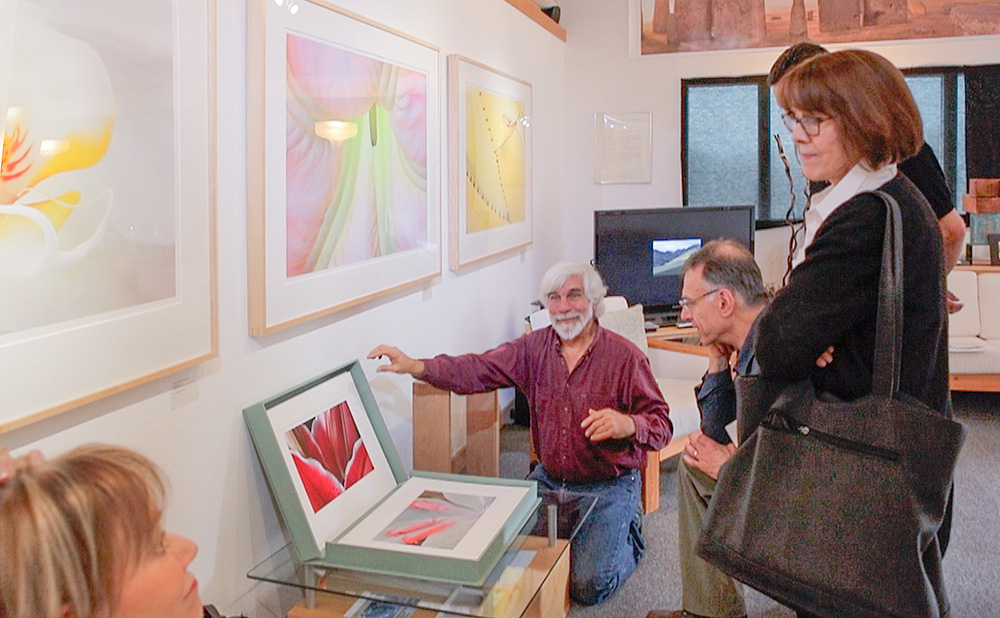 Showing the  Life Form Portfolio  during public Opening. Pacifica Center for the Arts.. 2018. Canon EOS 5DSr.