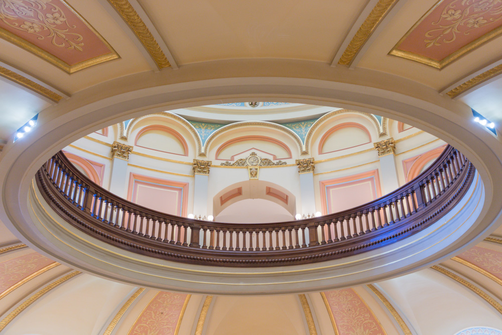 California State Capitol Rotunda. Sacramento. 2018.  Canon EOS 5DSr.