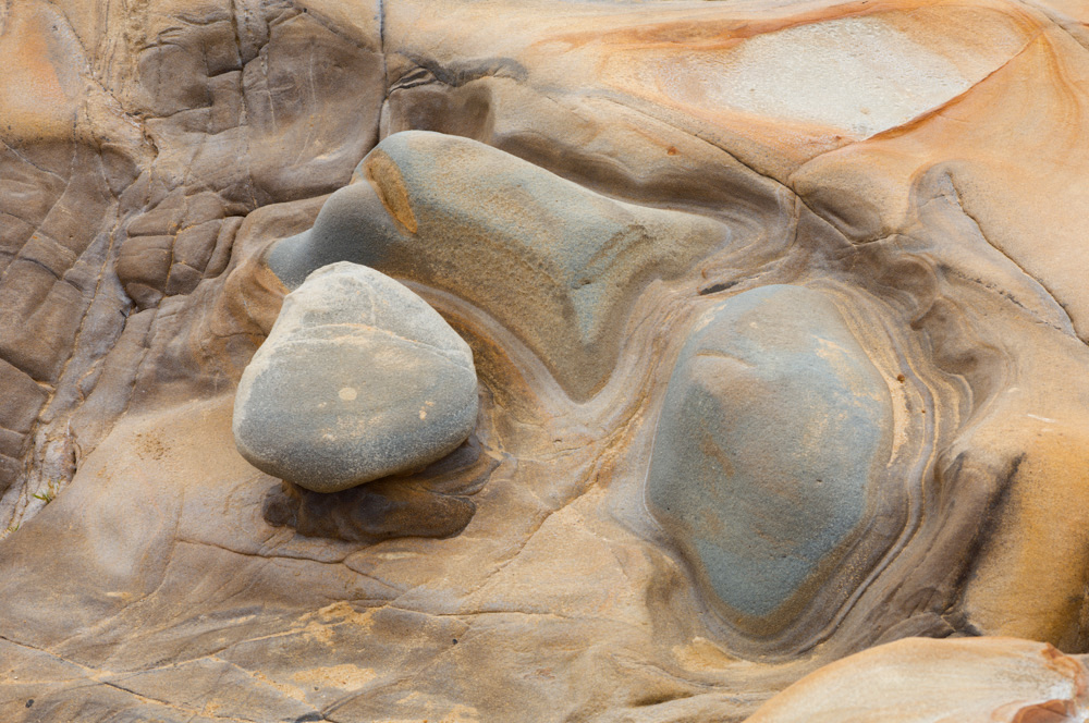 Eroded Sandstone and Granite. Pebble Beach, CA 2012.