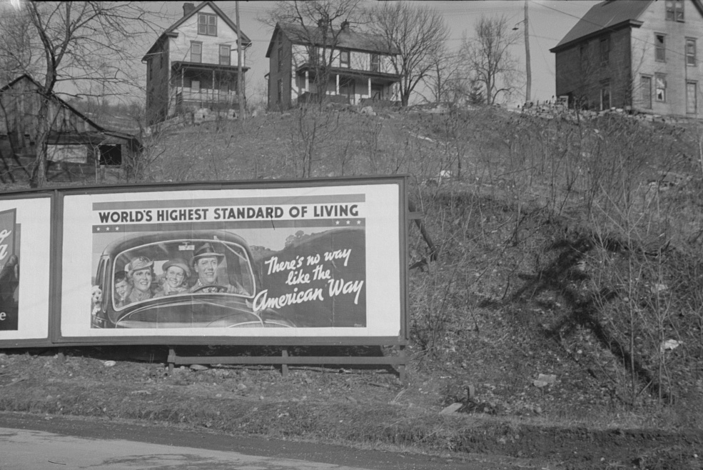 Road sign near Kingwood, West Virginia . Edwin Locke. Farm Security Administration. 1937. LOC.