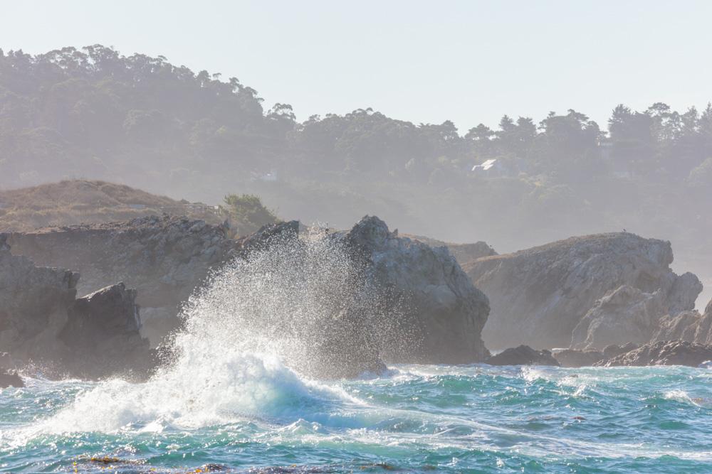 Crashing Surf from Weston Beach. Pt. Lobos, CA. 2018.