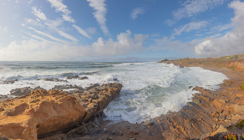 Pebble Beach Panorama. 2018.