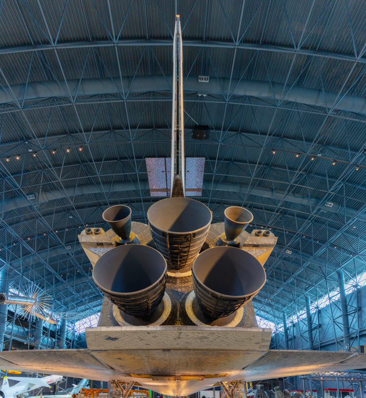 Space shuttle Atlantis. Air and Space Museum Annex. 2018. Stephen Johnson.