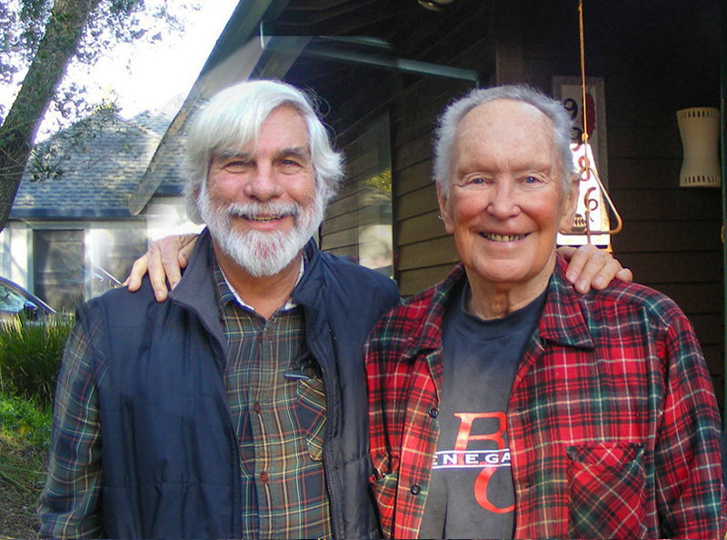 Steve with Gerald Haslam. Penngrove, CA. 2019. We're both older, but still deeply appreciative of our partnership that led to a book we a both very proud of. Photo by Jan Haslam.