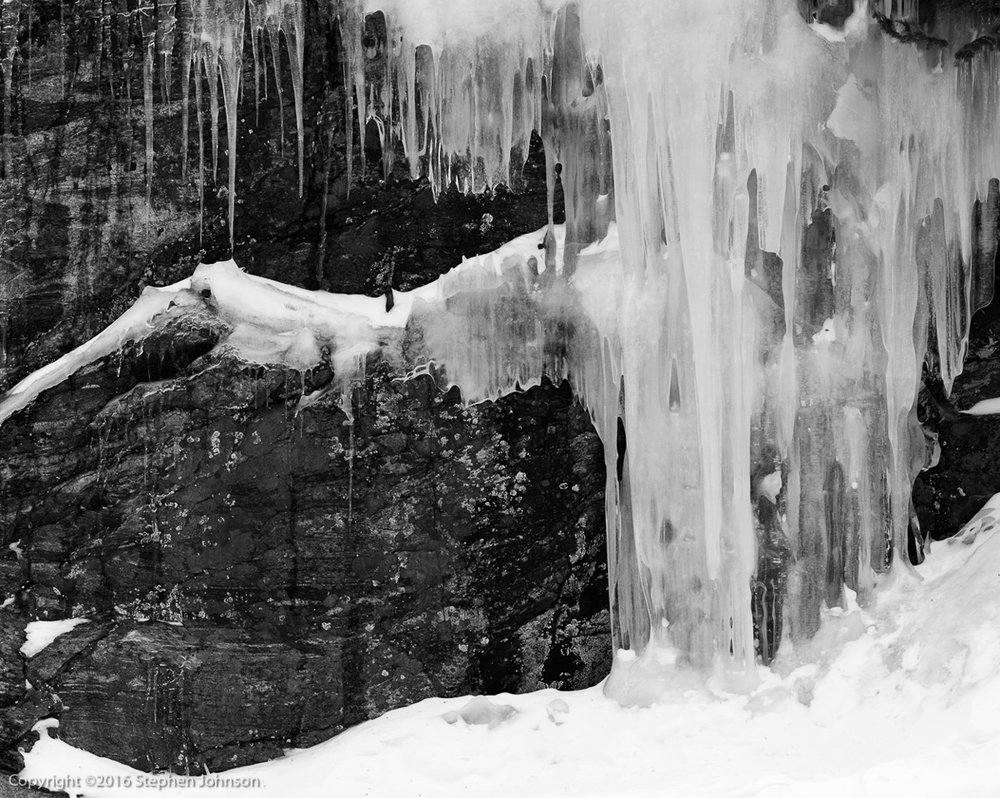 Ice Fall. Bear Lake. Rocky Mountain National Park, CO. 1996. from   With a New Eye: The Digital National Parks Project  .  Betterlight Scanning Back .   Purchase Print
