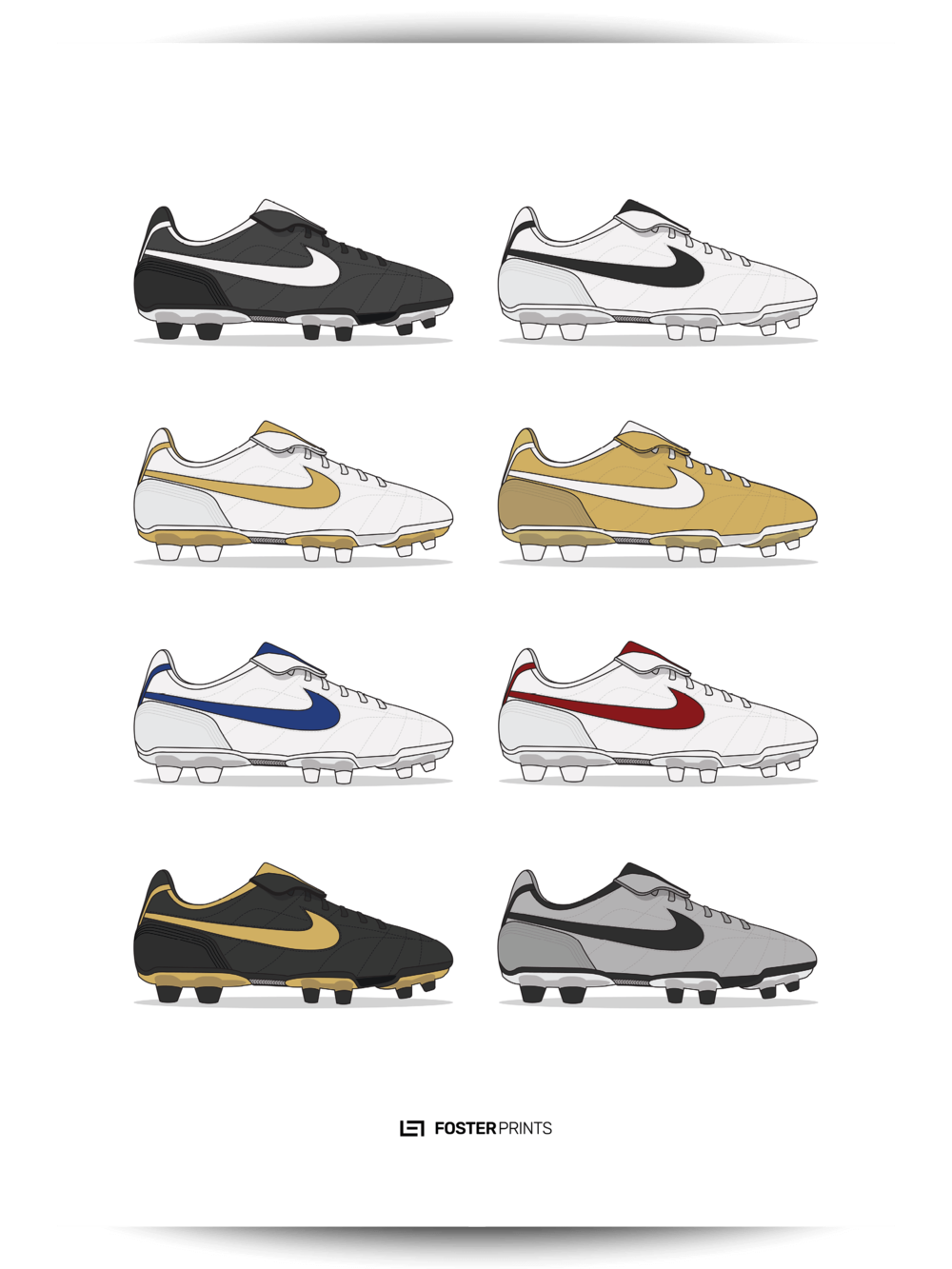 Nike Tiempo Legend I Collection Football Poster