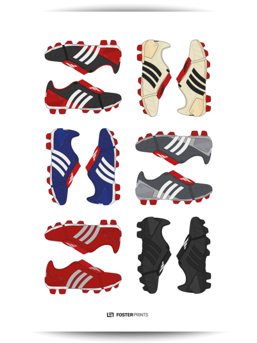 42ded0375c19 Adidas Predator Mania Collection Football Poster — Foster Prints ...