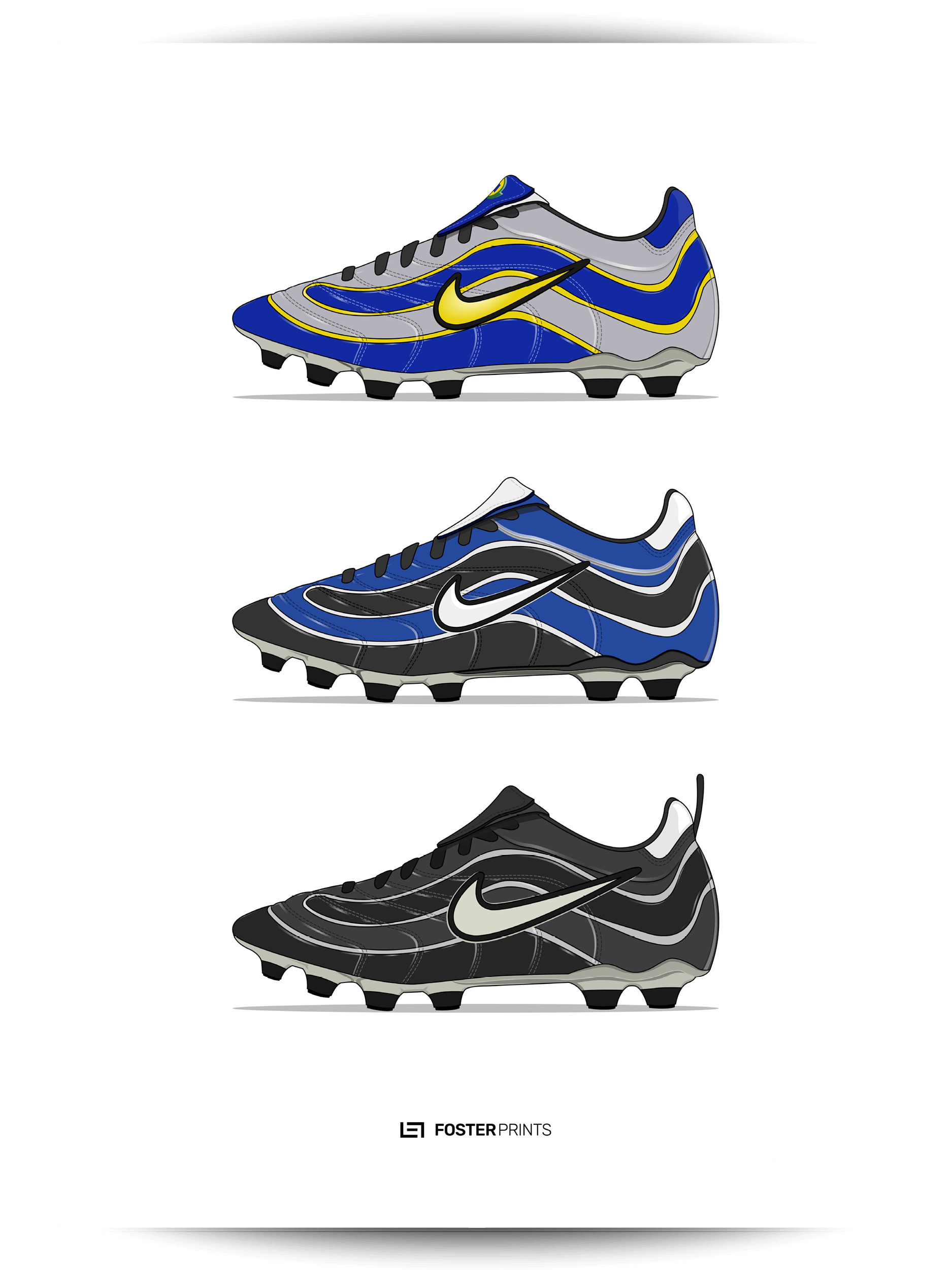 unique design wholesale dealer wide range Nike Mercurial R9 Football Poster — Foster Prints - Illustrated Football  Posters