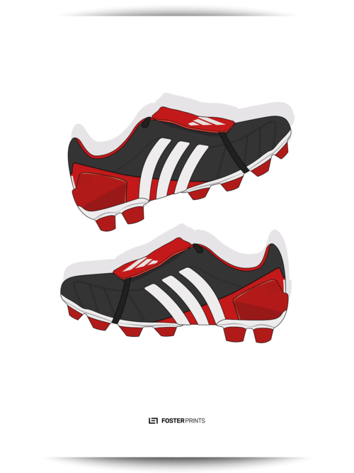 9ab267e73fe2 Adidas Predator Mania Red Black Football Poster — Foster Prints -  Illustrated Football Posters