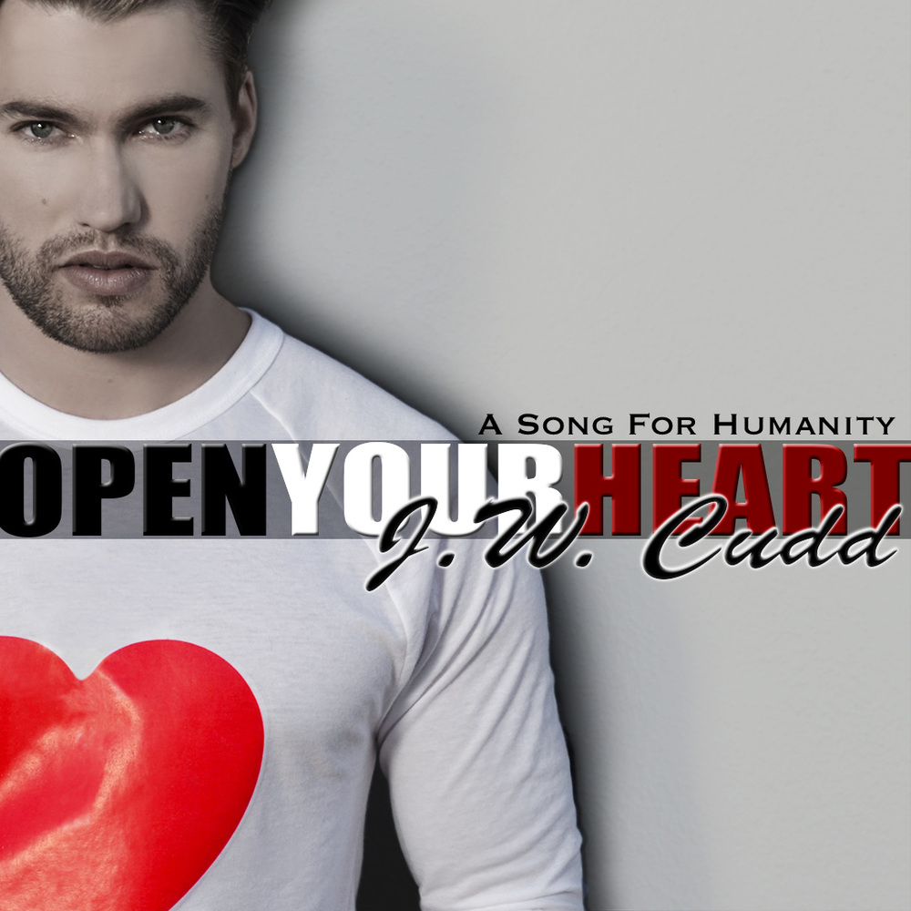 "Above: The album art for ""Open Your Heart"" by J.W. CUDD."