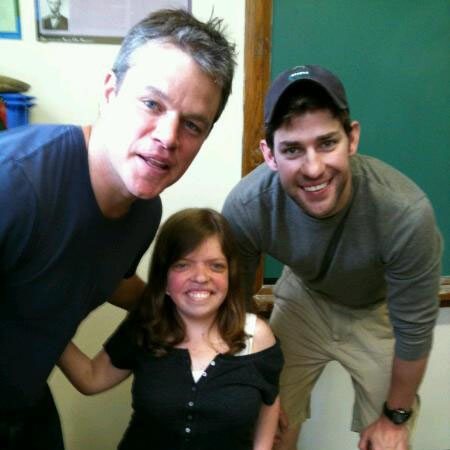 Above: Michelle Liedke with Matt Damon and John Krasinski.
