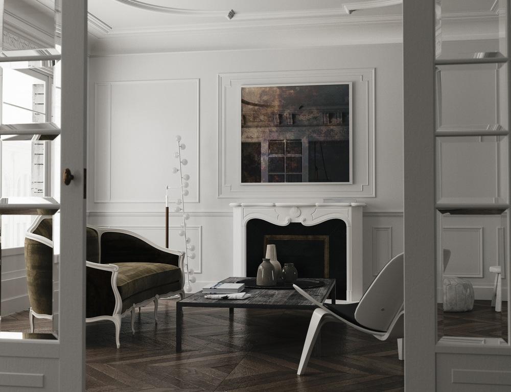 paris style interior by mirror coop