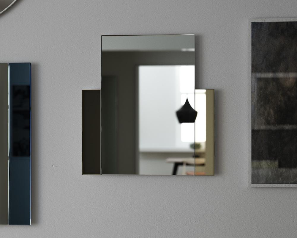 Golden Art Deco style mirror