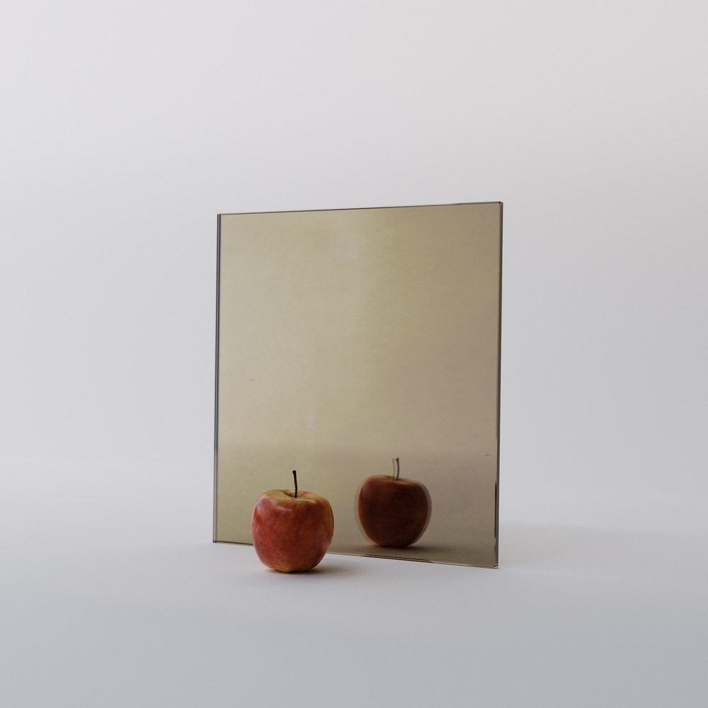Golden Mirror Swatch by MirrorCoop