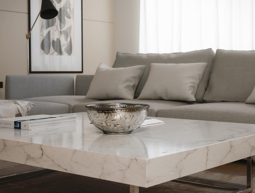 Silver Bowl Interior