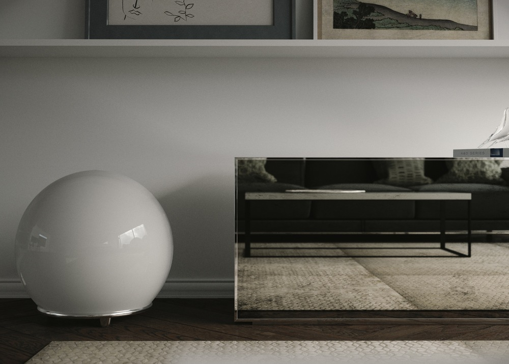 Detailed view of Mirrored Credenza