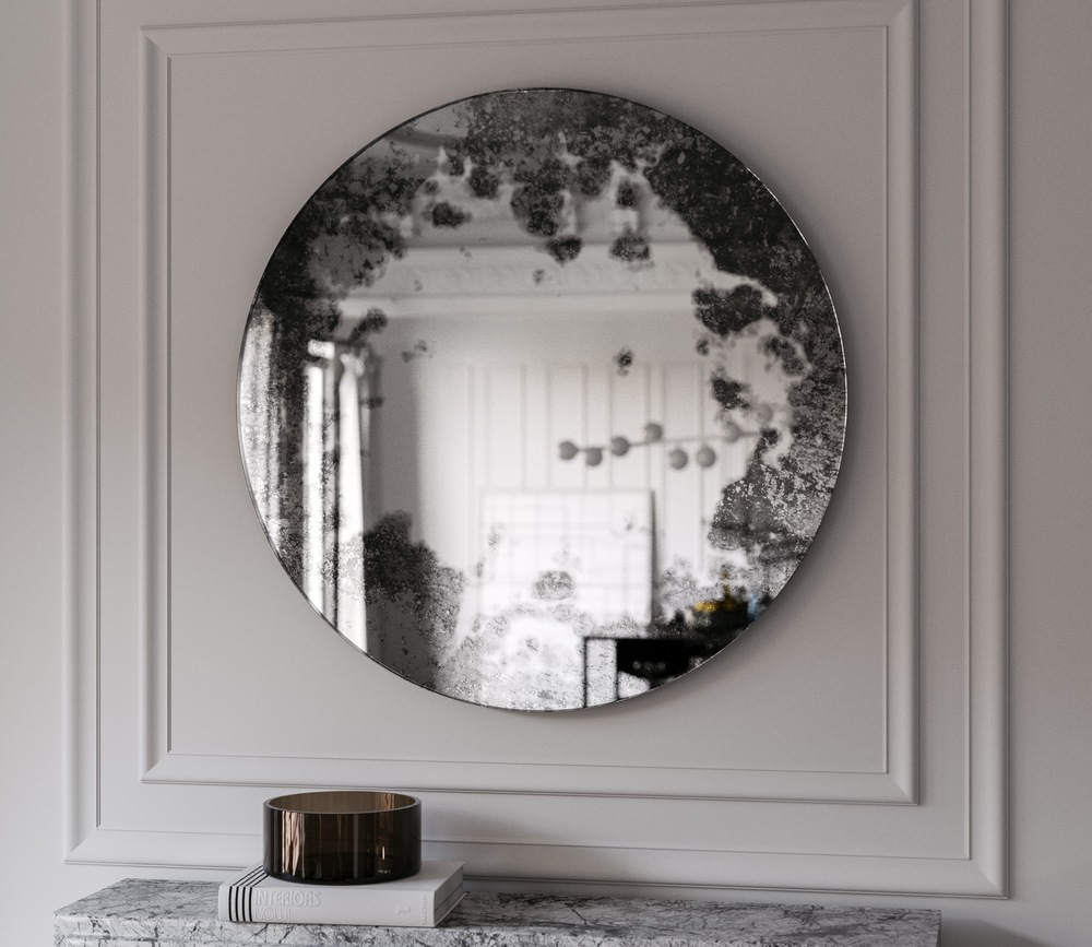 Straight on photo of Antiqued Wall Mirror