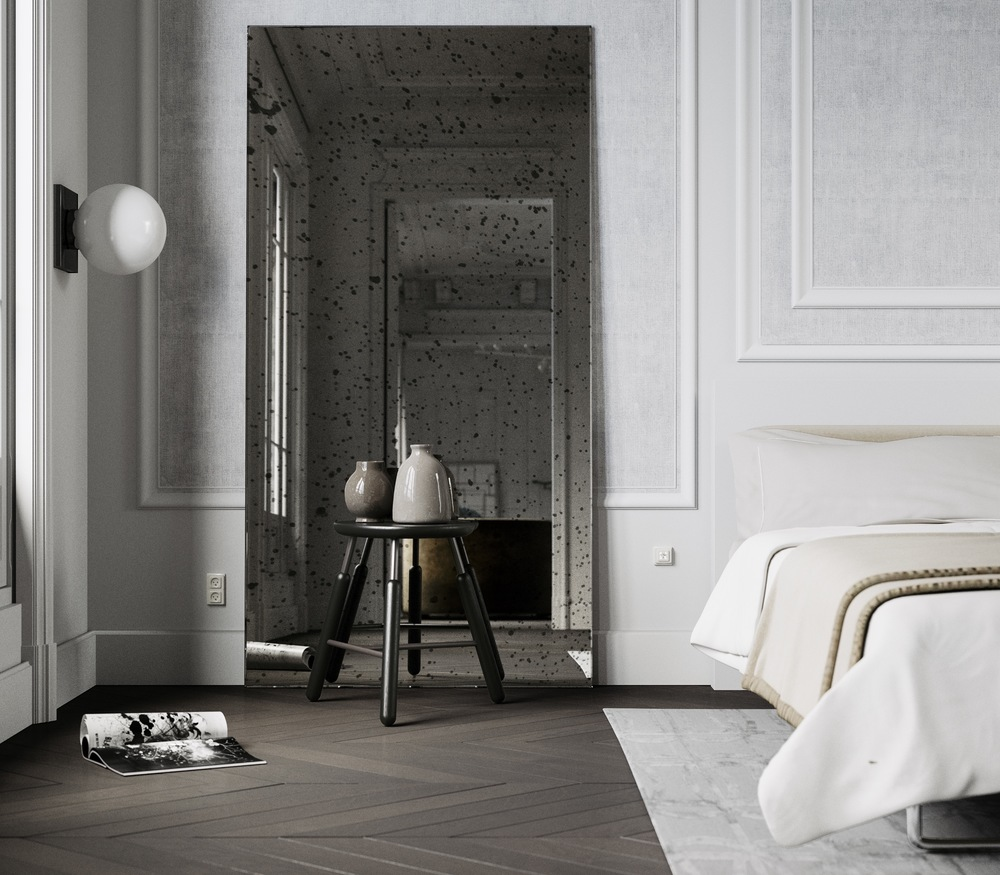 Large Leaning Wall mirror