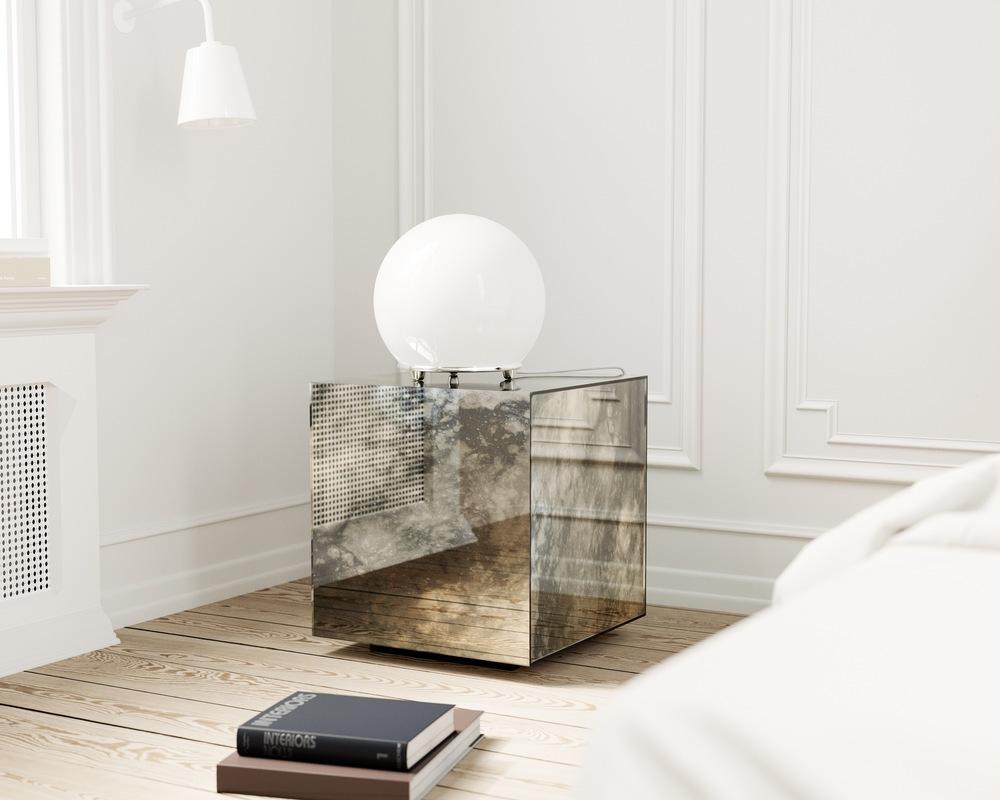Antiqued Mirrored Box jpg. Mirror Coop
