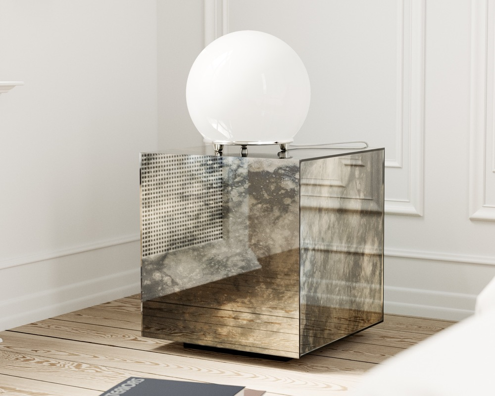 Nightstand with interesting reflection