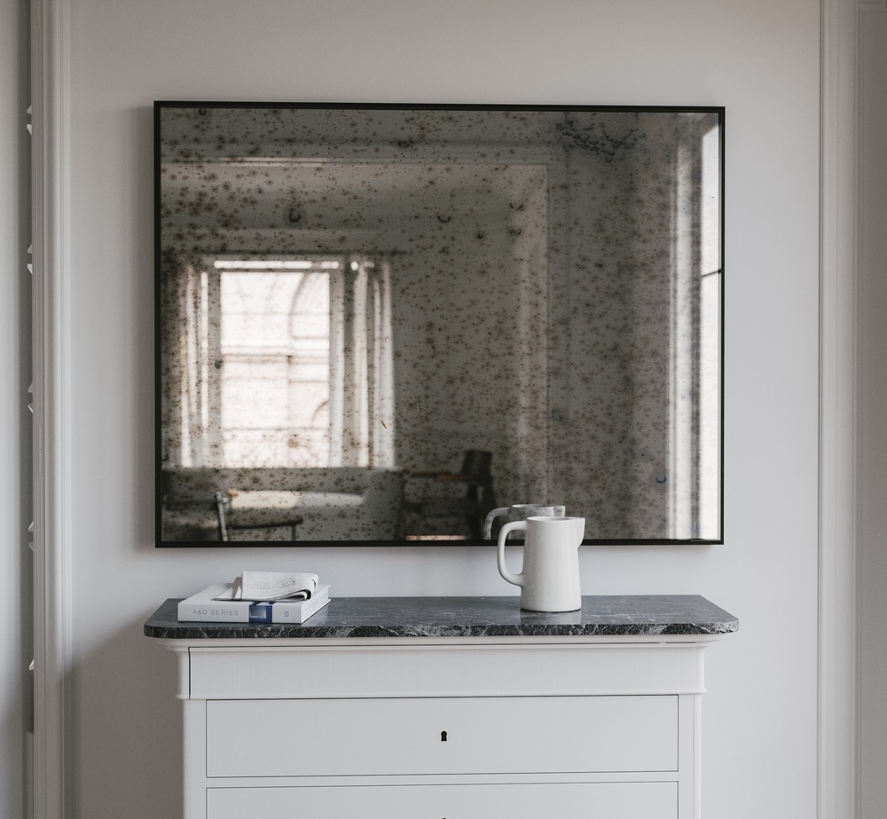 Subtle Black Framed Mirror