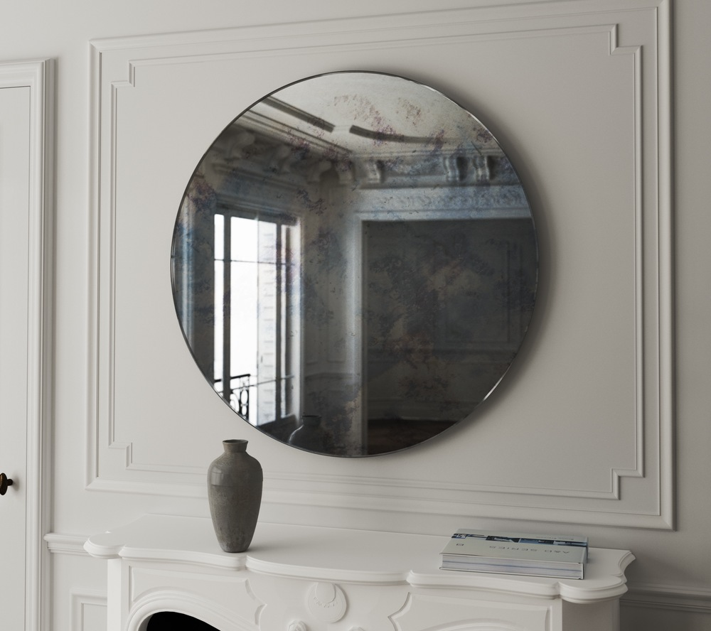 Colorful Antiqued Mirror