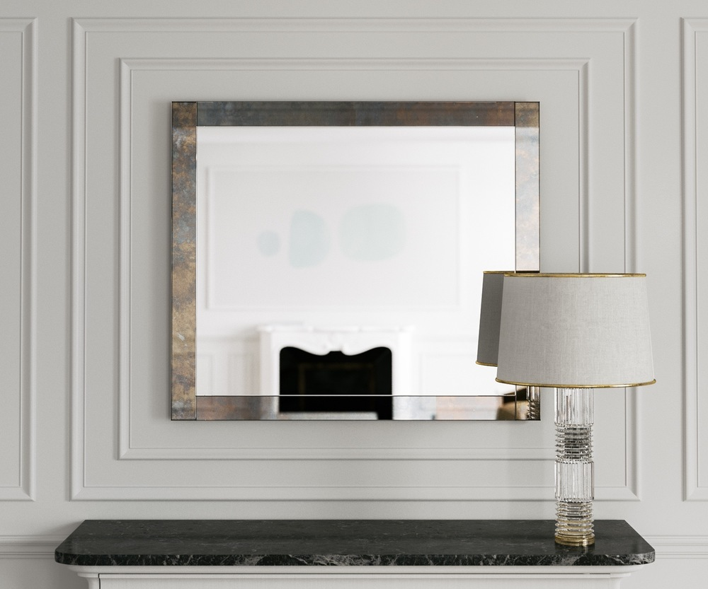 Mirror with Colorful Antiqued Border