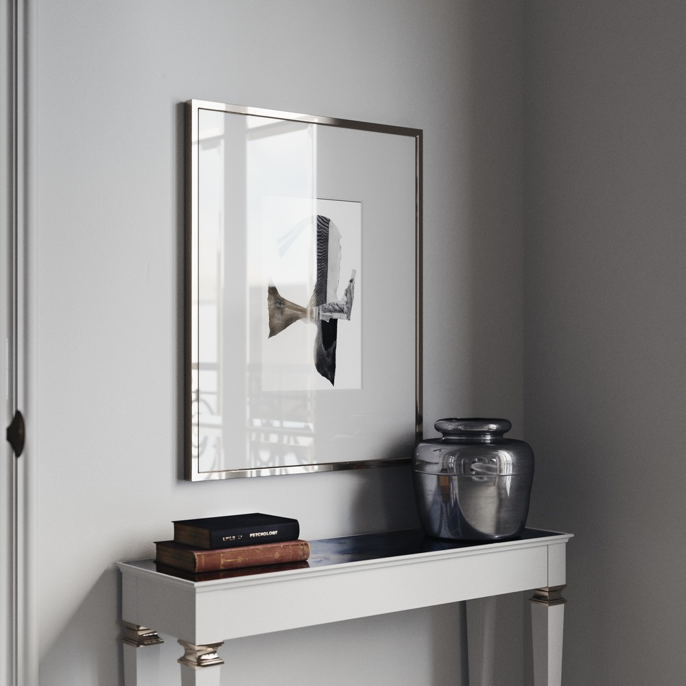 Antiqued Mirrored Console