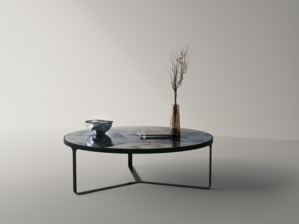 Antiqued Mirror table