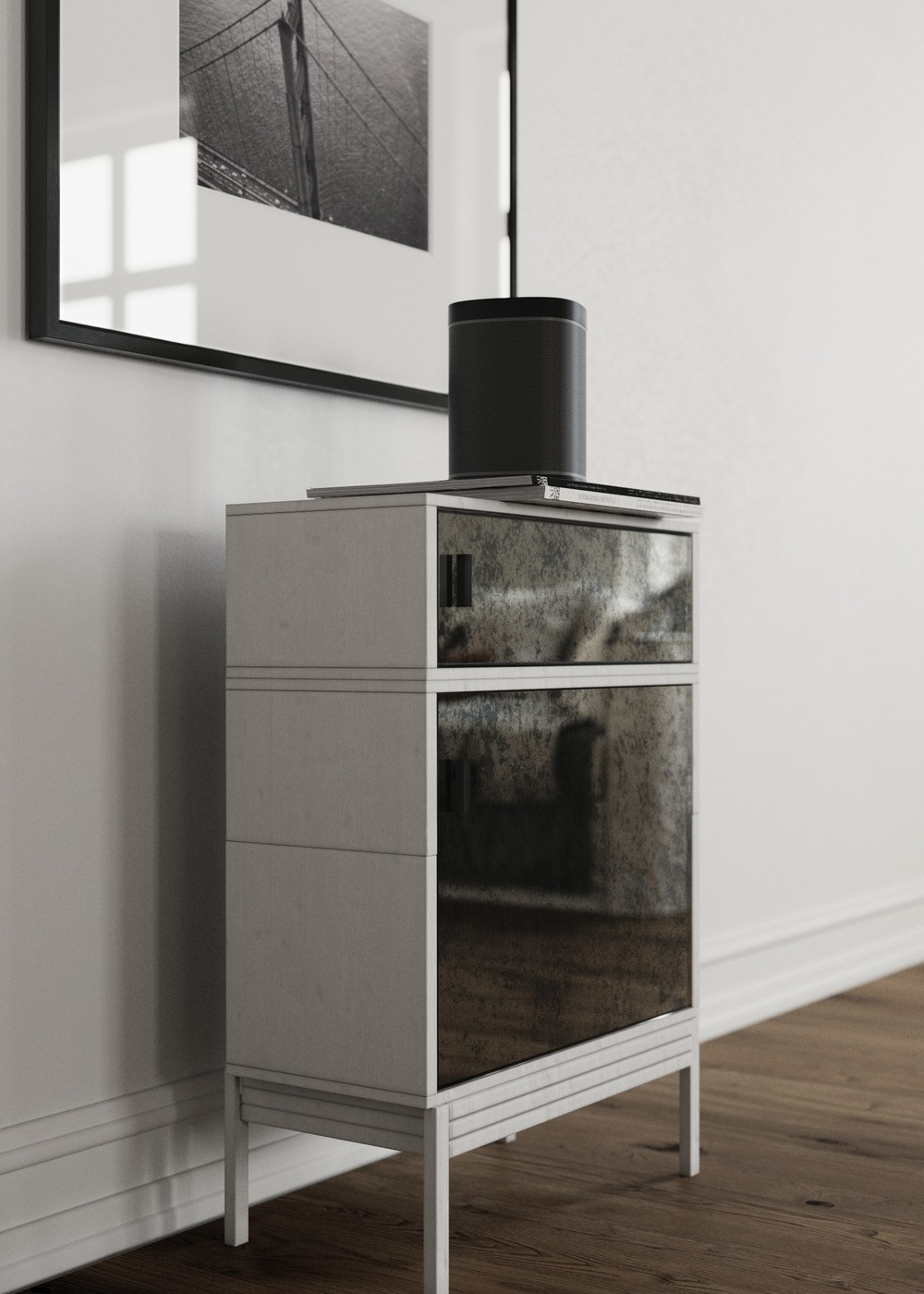 Side view of cabinet