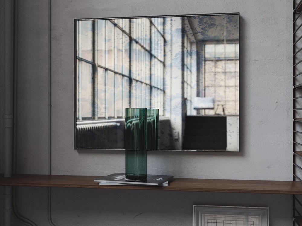 Full view blue mirror