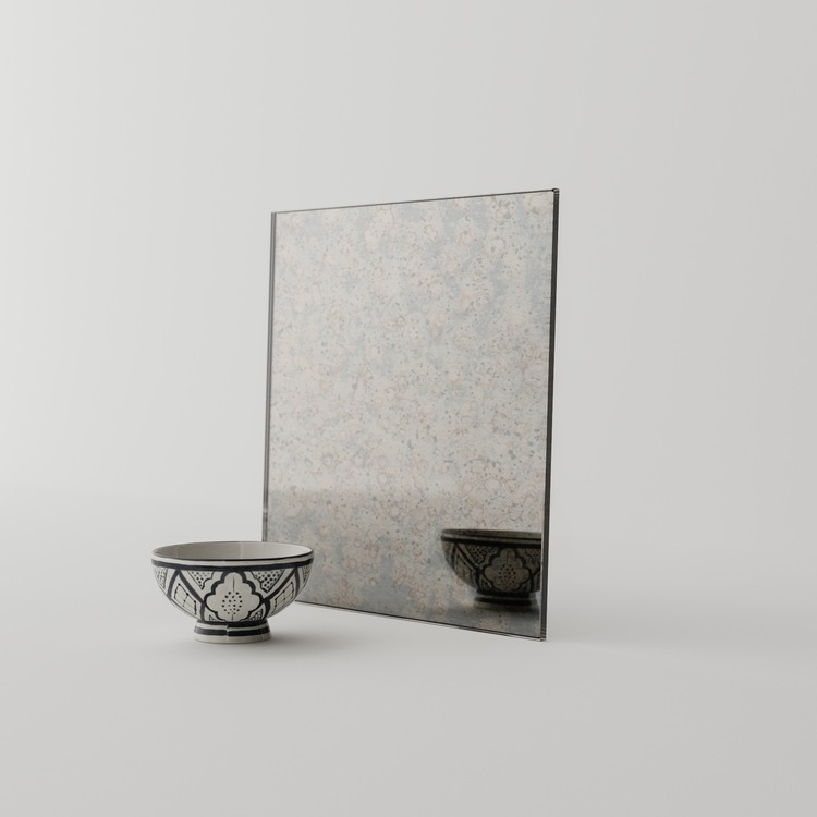 Roman Antiqued Mirror