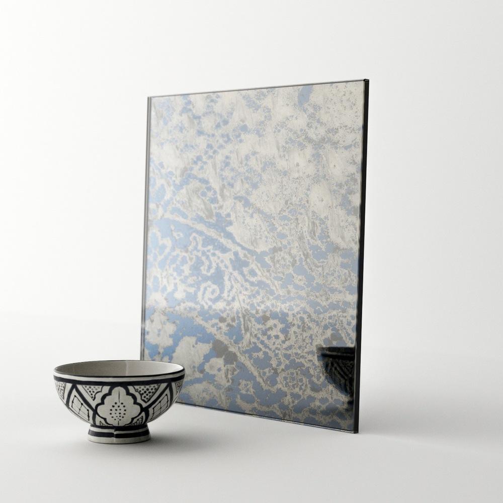 Blue antique Mirror