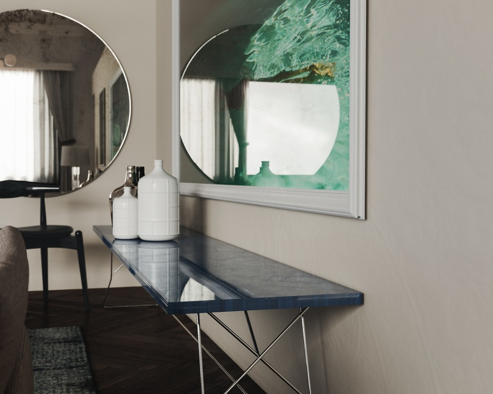 Long view of table by Mirror Coop
