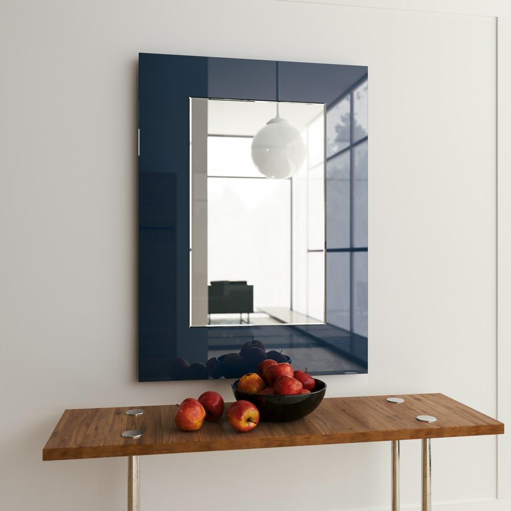 Blue Modern Mirror