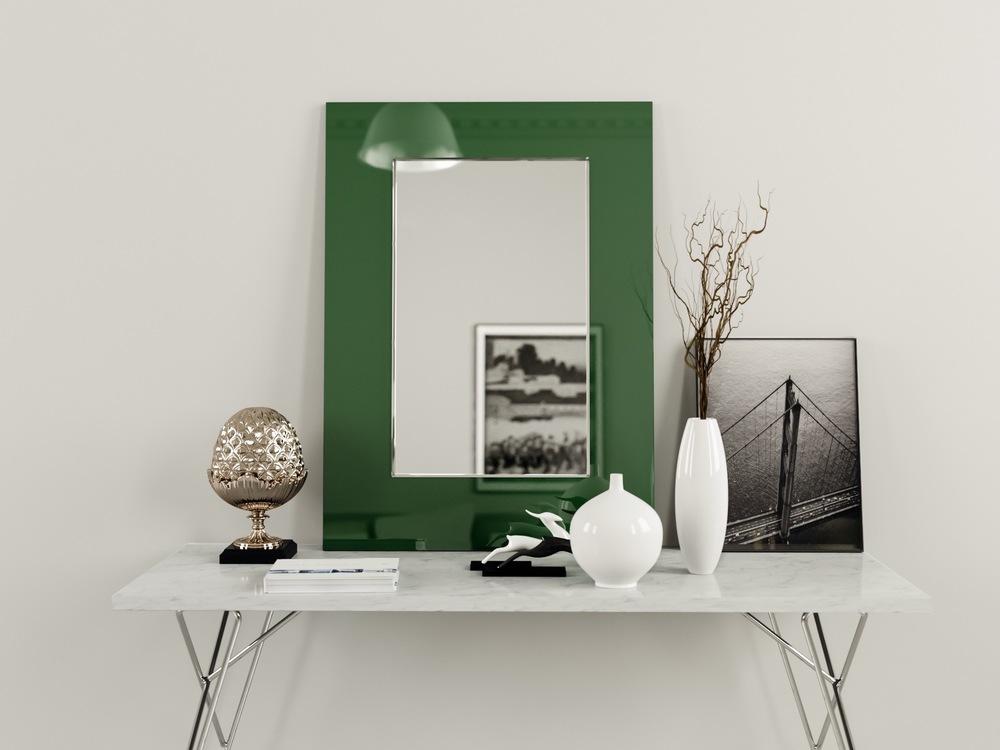 Midcentury Style Green Mirror