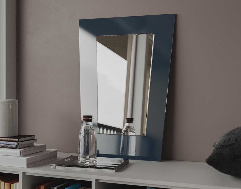 Blue Mirror Photographed in Situation