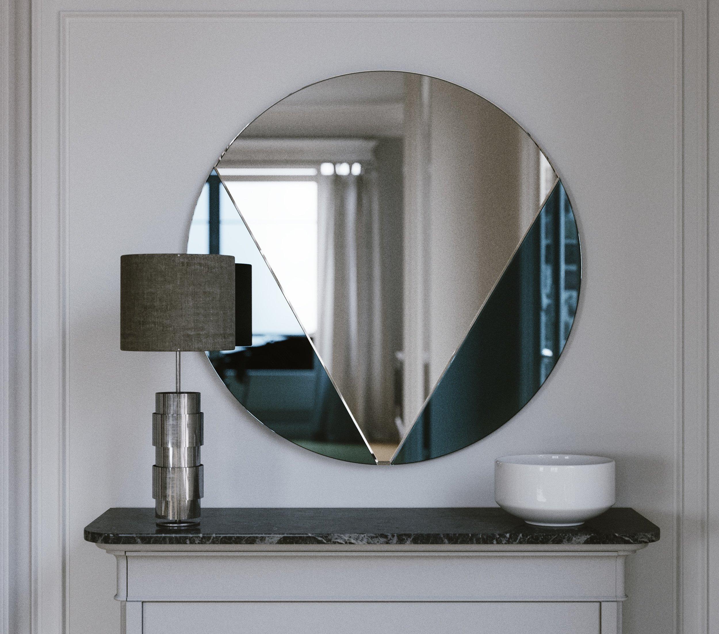Blue Art Deco Mirror